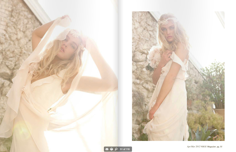 editorial for bridal magazine