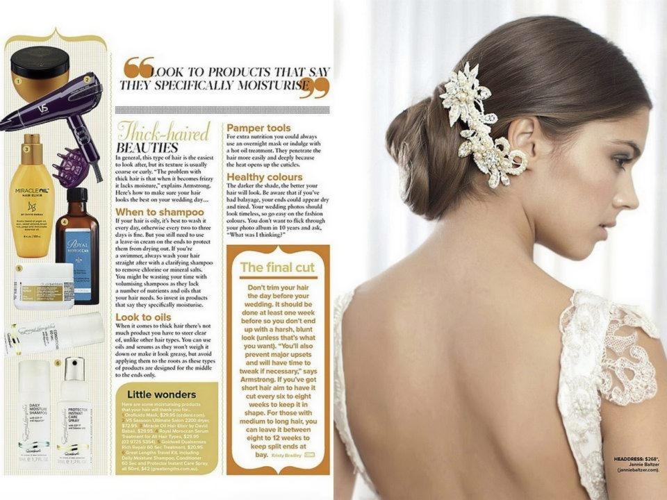 Cosmopolitan Bride Australia headpieces