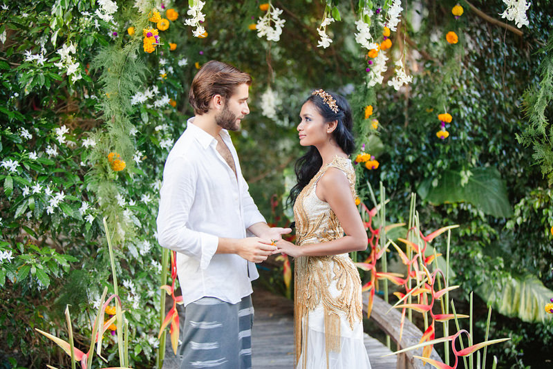 Dschungel-Hochzeit